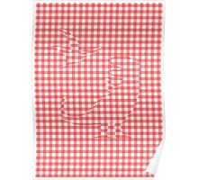 Dinosaurs Hiding In Gingham Poster