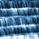 cool blue waterfall steps by Ronald Eschner