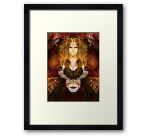 Choose your mask Framed Print