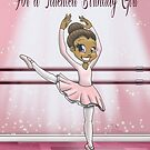 """""""For a Talented Birthday Girl"""" Card (blank inside) by treasured-gift"""