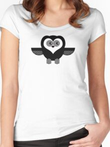 OWL 1 Women's Fitted Scoop T-Shirt