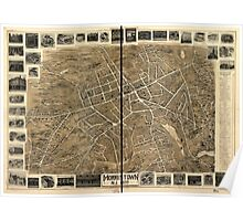 Panoramic Maps Morristown NJ 1899 Poster