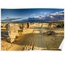 Driving through the Pinnacles Desert Poster