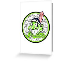 INDIANS WHITE Greeting Card