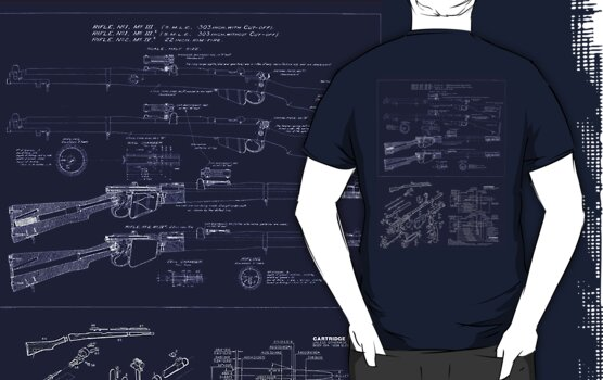 303  Lee Enfield Rifle Blueprint T shirt by NemesisGear