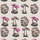 Multiple Mushrooms  by Rayne Karfonta