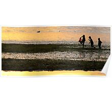 Beach combing at low tide   -  Philipinnes Poster
