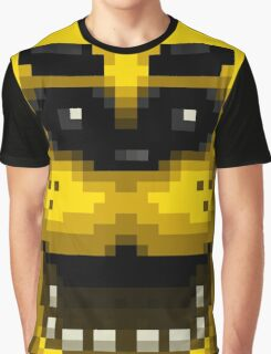 Five Nights at Freddy's 1 - Pixel art - Golden Freddy Graphic T-Shirt