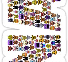 Five Nights at Freddys - Pixel art - FNAF typography Sticker
