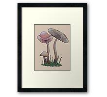 Simple Mushrooms  Framed Print