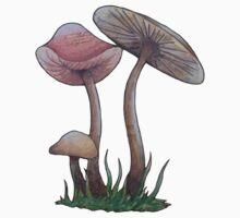 Simple Mushrooms  One Piece - Long Sleeve