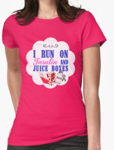 I Run On Insulin and Juice Boxes - Youth Diabetic T-Shirt