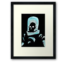 Mr Freeze Framed Print