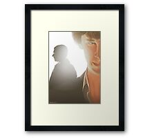 You look sad when you think he can't see you Framed Print
