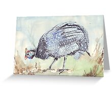 Listen to the Guinea Fowl Greeting Card