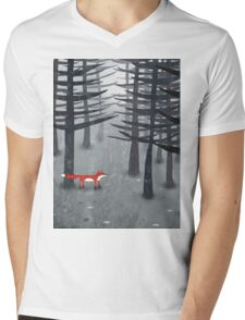 The Fox and the Forest Mens V-Neck T-Shirt