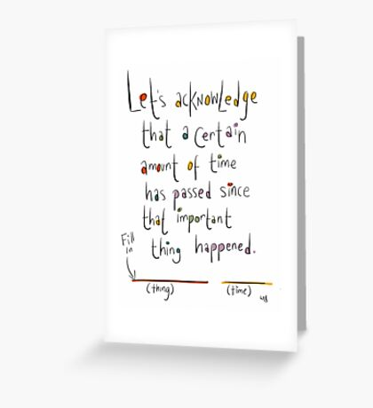 Generic Anniversary/Birthday card.  Greeting Card