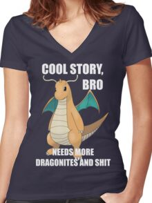 Cool Story, Bro Women's Fitted V-Neck T-Shirt