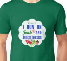 I Run On Junk Food and Juice Boxes - Youth  Unisex T-Shirt