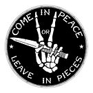 Come in Peace or Leave in Pieces by LibertyManiacs