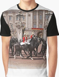 The household cavalry pass Buckingham Palace ahead of Trooping The Colour Graphic T-Shirt