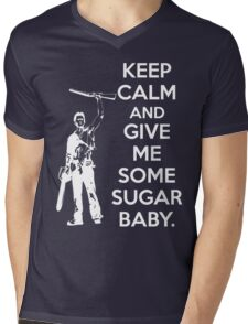 Keep Calm and Give Me Some Sugar Baby. Mens V-Neck T-Shirt