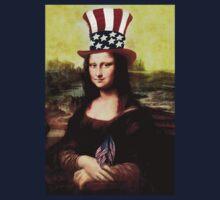 Patriotic Mona Lisa Kids Tee