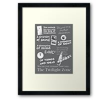 The Twilight Zone Framed Print