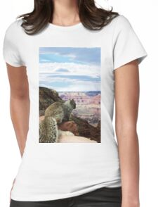 Squirrel Overlooking Grand Canyon Womens Fitted T-Shirt