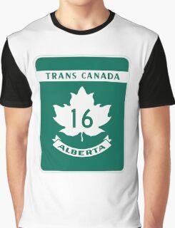 Trans Canada Hwy 16 (AB) Graphic T-Shirt