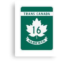 Trans Canada Hwy 16 (AB) Canvas Print