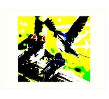 Modern Swallows Art Print