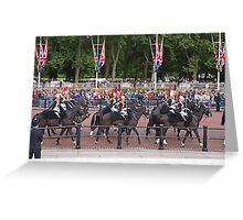 Horses at Trooping The Colour Greeting Card