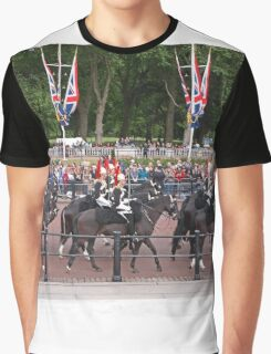 Horses at Trooping The Colour Graphic T-Shirt