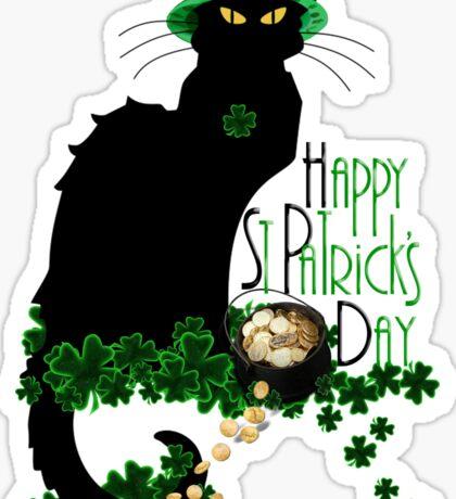 St Patrick's Day - Le Chat Noir Sticker