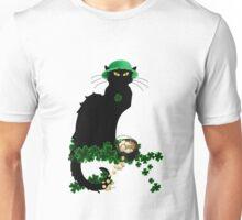 St Patrick's Day Le Chat Noir   Unisex T-Shirt
