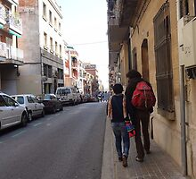 Couple Walking Gracia Barcelona by KPolster