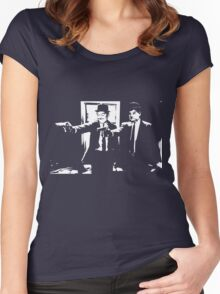 Pulp Fiction Laurel and Hardy Women's Fitted Scoop T-Shirt