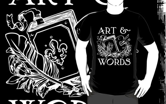Art & Words Black Shirt by Brigid Ashwood