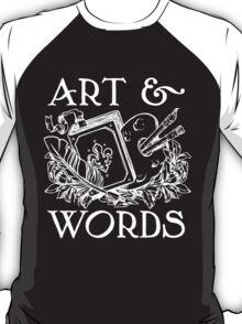 Art & Words Black Shirt T-Shirt