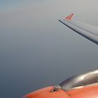 View of an easyJet airplane wing by KPolster