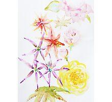 Watercolour flowers Photographic Print