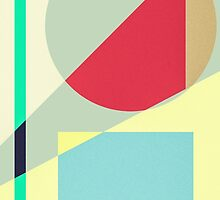 Modern Abstract Geometrical Print by Blkstrawberry