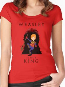 Weasley Is Our King 2 Women's Fitted Scoop T-Shirt
