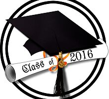 Class of 2016 - Grad Cap with Diploma by Gravityx9