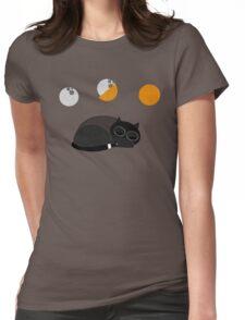 Sleepy Cat Womens Fitted T-Shirt