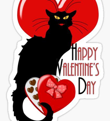 Happy Valentine's Day Le Chat Noir Sticker