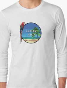 Costa Rica Vacation Graphic Long Sleeve T-Shirt