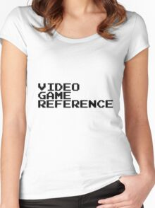 Video Game Reference Women's Fitted Scoop T-Shirt