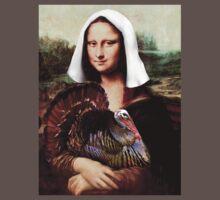 Mona Lisa Thanksgiving Pilgrim One Piece - Short Sleeve